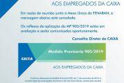 CONVENÇÃO COLETIVA FAZ CAIXA RECUAR DE MP DE BOLSONARO