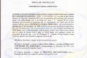 EDITAL DE CONVOCAÇÃO- ASSEMBLÉIA GERAL ORDINÁRIA