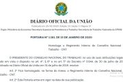 PORTARIA DO GOVERNO REGULAMENTA FUNCIONAMENTO DO CNT